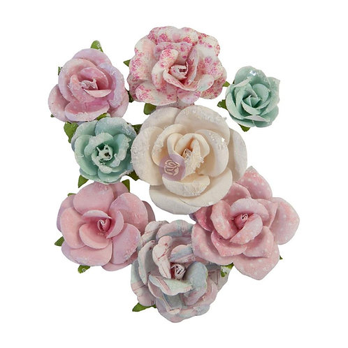 Prima - All My Heart/With Love - Mulberry Paper Flowers