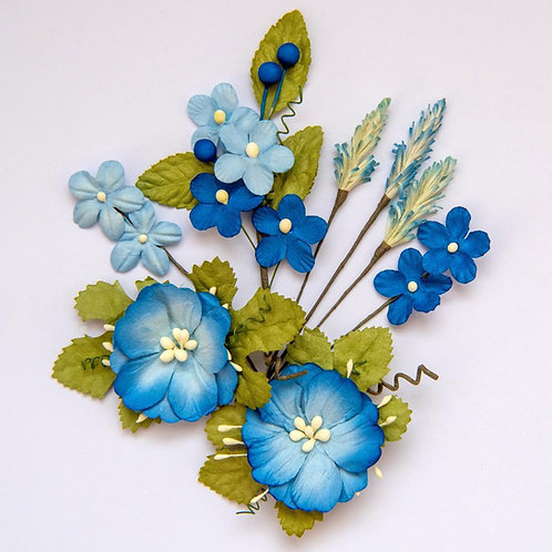49 and Market-Wildflowers-Cobalt-Item #WF88633
