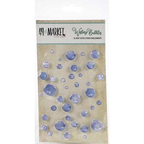 49 and Market-Wishing Bubbles-Blueberry-38 Epoxy Sticker Embellisments