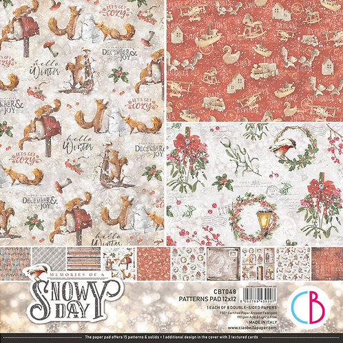 PRE ORDER Memories of a Snowy Day by Ciao Bella- 8 - 12x12 Double-Sided Papers