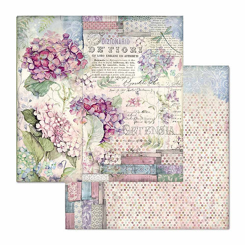 Stamperia-Hortensia - 2 - 12x12 Single Sheets-Item #SBB694