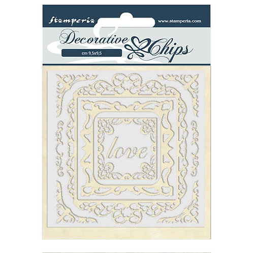 PRE ORDER - Stamperia - Decorative Chips - Atelier Des Arts - Love Frames