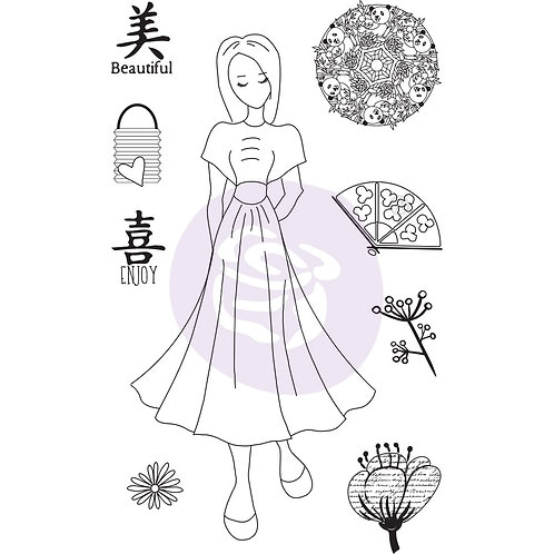"Julie Nutting ""Kyoko"" Cling Stamps-Item #912925"