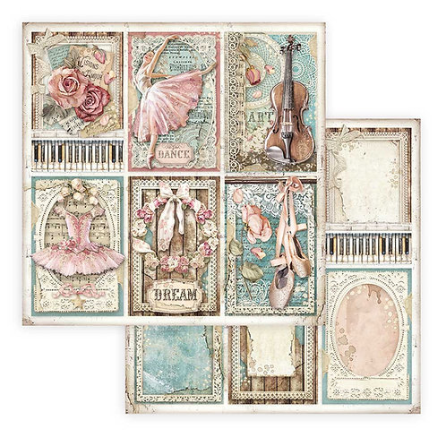 Stamperia - Passion - Cards - 2 - 12x12 Single Sheets