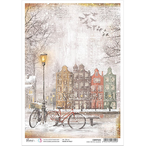 PRE ORDER Memories of a Snowy Day-Home for the Holiday-A4 Rice Ppr by Ciao Bella