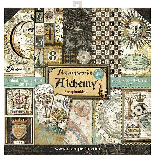 Alchemy by Stamperia - 12 x 12 Paper Pack