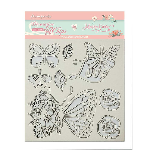 PRE ORDER - Stamperia - Decorative Chips - Butterflies