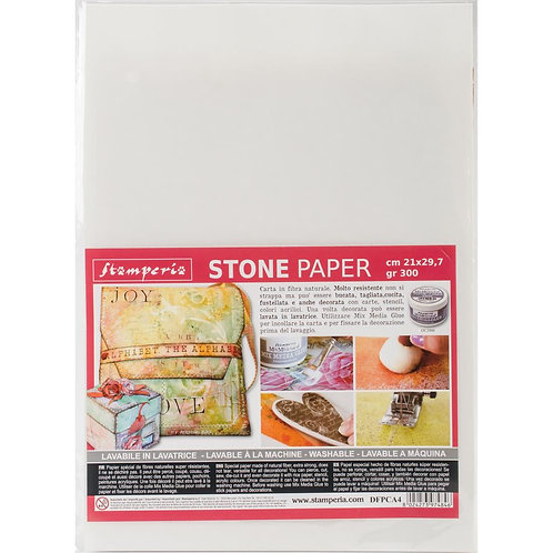 """Stamperia - Washable Stone Paper - One 8.25"""" x 11.5"""" Sheet"""