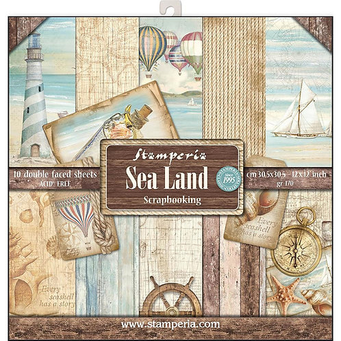 Sea Land by Stamperia - 12x12 Paper Pack