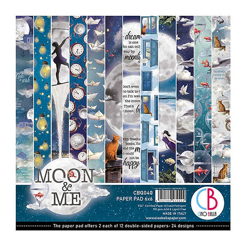 Moon & Me by Ciao Bella-24 Double-Sided 6x6 Sheets