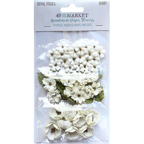49 and Market - Royal Posies - Ivory - 49 Pieces