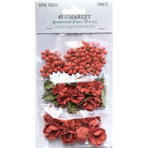 49 and Market - Royal Posies - Tomato - 49 Pieces