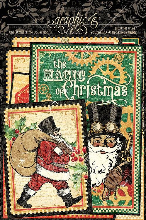 Graphic 45-Christmas Time-Ephemera Journaling Cards