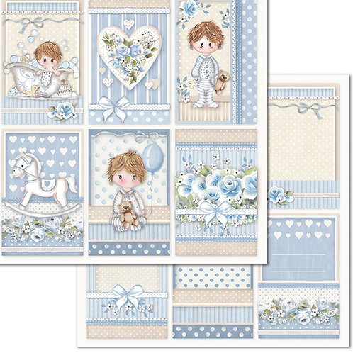 Stamperia-Little Boy Cards - 2 - 12x12 Single Sheets-Item #SBB683