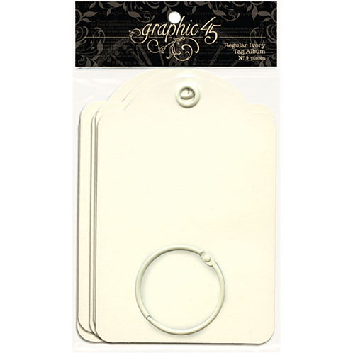 Graphic 45-Regular Tags-Ivory