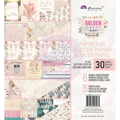 "Prima-Golden Coast Double-Sided Paper Pad 8""X8"" 30/Pkg-Item #995065"