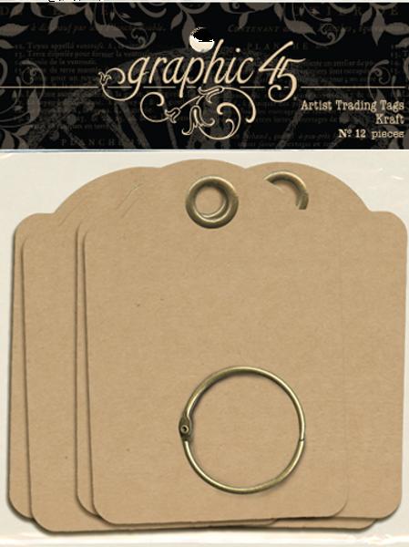 Graphic 45-Artist Trading Tags–Kraft-Item #4500847