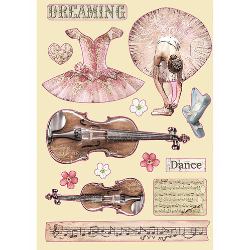 Stamperia - Passion - Violin & Dance - Wooden Shapes