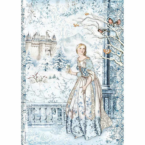 Stamperia -Winter Tales Fairy In The Snow - Rice Paper A4