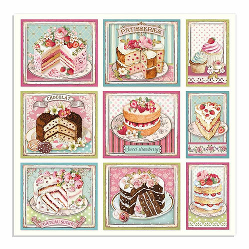 Stamperia - Sweety Cakes - 2 - 12x12 Single Sheets-Item #SBB735