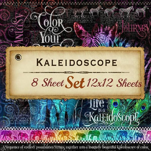 G 45-Kaleidoscope-12x12 Papers-8 Single Double-Sided Sheets (No Cover)