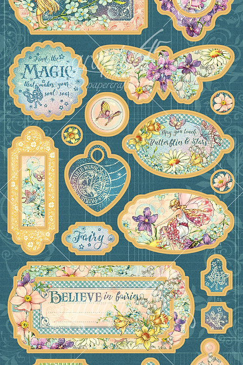 Graphic 45-Fairie Wings-Decorative Chipboard