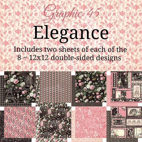 Graphic 45 - Elegance - 16 - 12x12 Double-Sided Sheets (No Cover)
