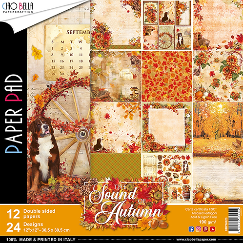 The Sound of Autumn by Ciao Bella-12-12x12 Double-Sided Papers-CBPM023