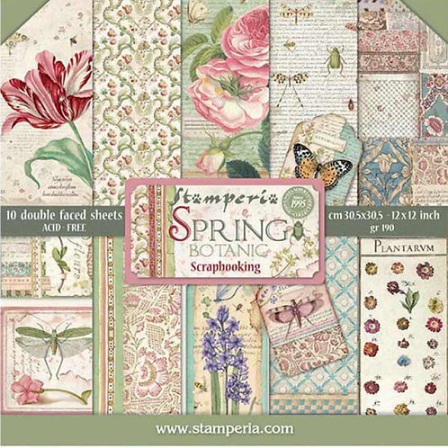 Spring Botanic by Stamperia - 10 -12x12 Design Papers