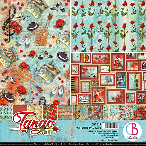 Tango by Ciao Bella-8-12x12 Double-Sided Papers-CBT029