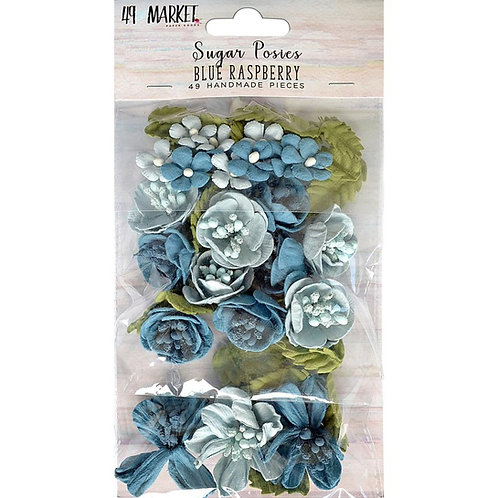 49 and Market-Sugar Posies-Blue Raspberry-Item #SUG32419