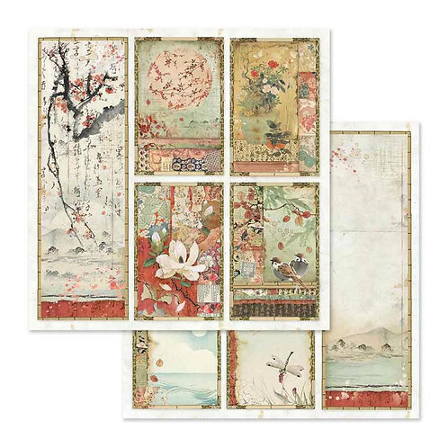 Stamperia-Oriental Paintings- 2 - 12x12 Single Sheets