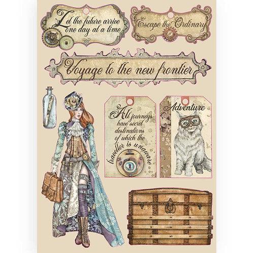Stamperia - Lady Vagabond - Labels - Wooden Shapes