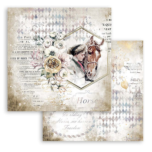 Stampers  - Lady With Horse - 2 - 12x12 Single Sheets