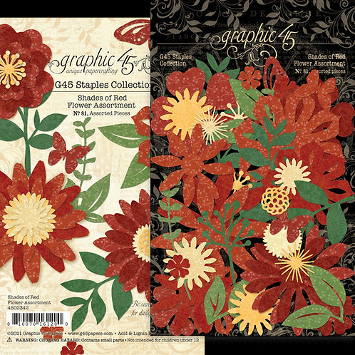 Graphic 45 - Shades of Red - Flower Assortment