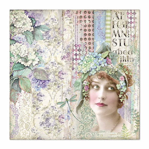 Stamperia-Hortensia - Lady - 2 - 12x12 Single Sheets-Item #SBB698