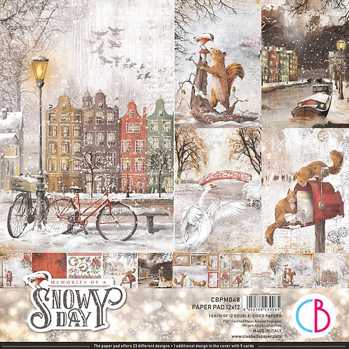 PRE ORDER Memories of a Snowy Day by Ciao Bella - 12 - 12x12 Double-Side Sheets