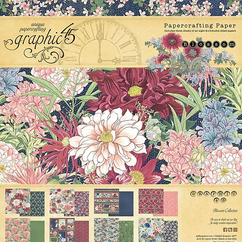 Graphic 45 - Blossom - 8x8 Paper Pad