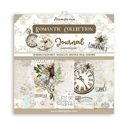 PRE ORDER-Stamperia - Journal - 12x12 Paper Pad - 10 Sheets - 22 Designs