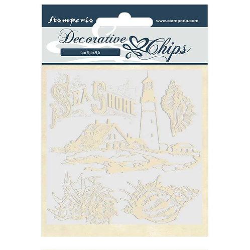 PRE ORDER - Stamperia - Decorative Chips - Sea Dream - Sea Shore