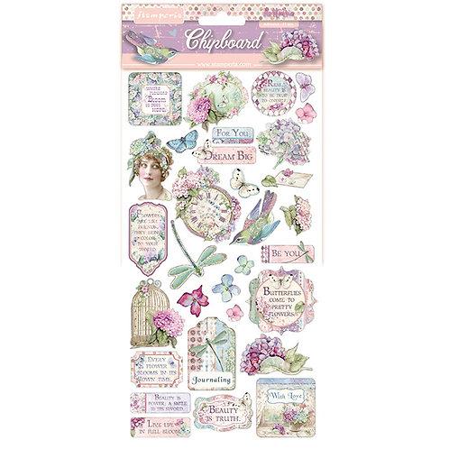 Stamperia - Hortensia - Adhesive Chipboard