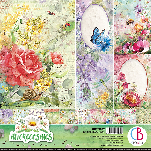 Microcosmos by Ciao Bella-12-12x12 Double-Sided Papers-CBPM037
