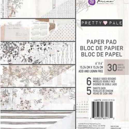 Prima - Pretty Pale 6 x 6 PaperPad - 30Sheets