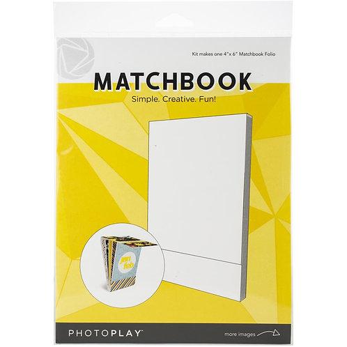 PhotoPlay - Maker Series - 4 x 6 Matchbook Folio - White
