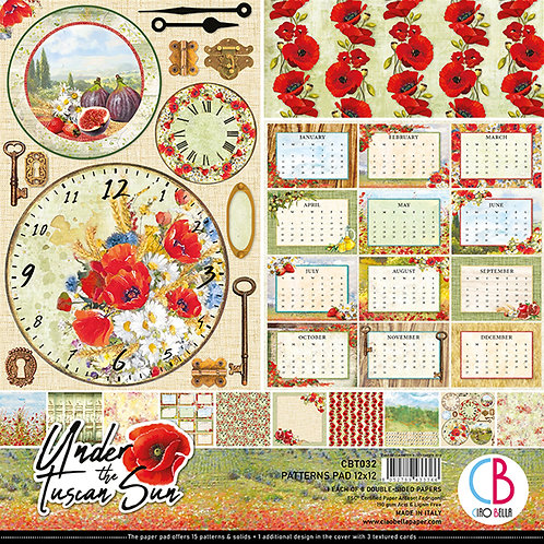 Under The Tuscan Sun by Ciao Bella-8-12x12 Double-Sided Papers-CBT032