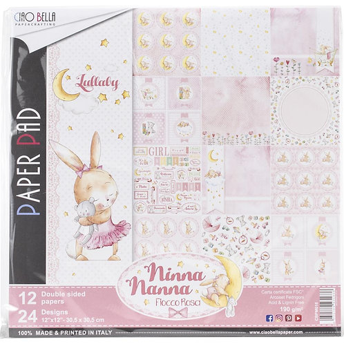 Ninna Nanna Girl by Ciao Bella-12-12x12 Double-Sided Papers