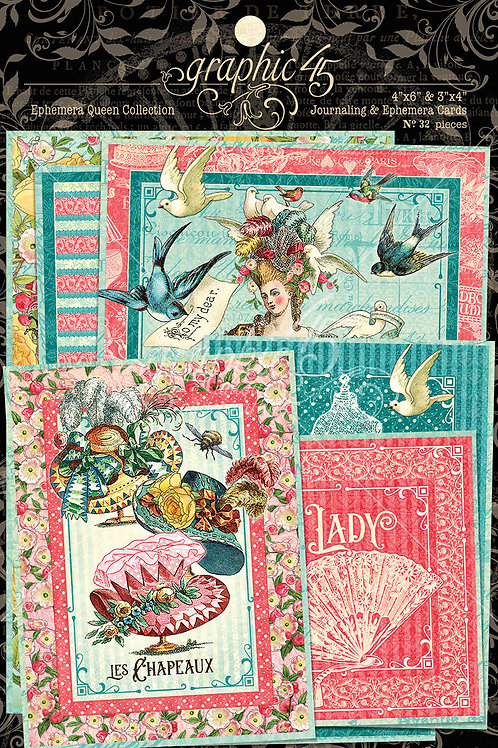 Graphic 45-Ephemera Queen-Ephemera Journaling Cards
