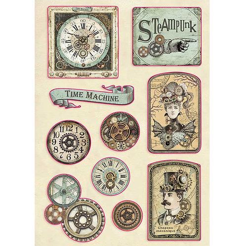 PRE ORDER - Stamperia - Voyages Fantastiques - Tags - Wooden Shapes
