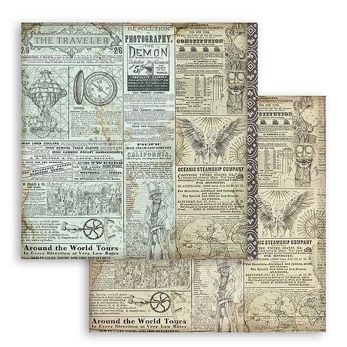 Stamperia-Sir Vagabond - The Traveler - 2 - 12x12 Single Sheets