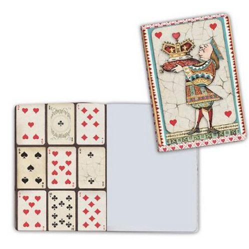 Alice-King of Hearts Notebook by Stamperia-4x5.75-Item #ENBA6014